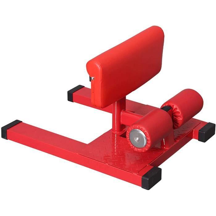 BANC DE MUSCULATION ZMJ Leg Machines Indoor Leg Trainer Accueil Banc Squat Sissy Rouge Machine D'aide Au Squat Multifonction &251