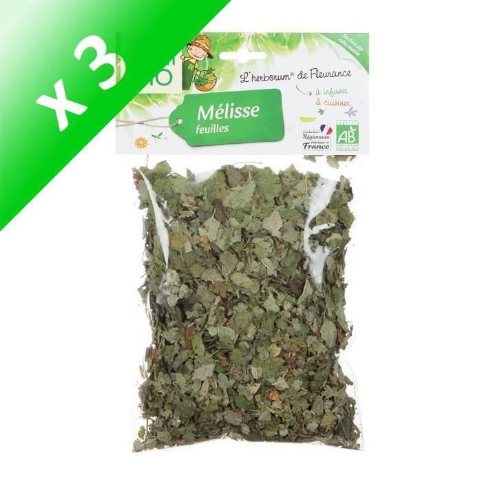 [LOT DE 3] JARDIN BIO Mélisse feuilles bio - 25 g