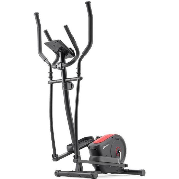 HS HOP-SPORT Vélo elliptique HS-2050C Cosmo -Nordic Walking – résistance magnétique 9kg - Poids Max 100 kg -Ordinateur (Rouge)