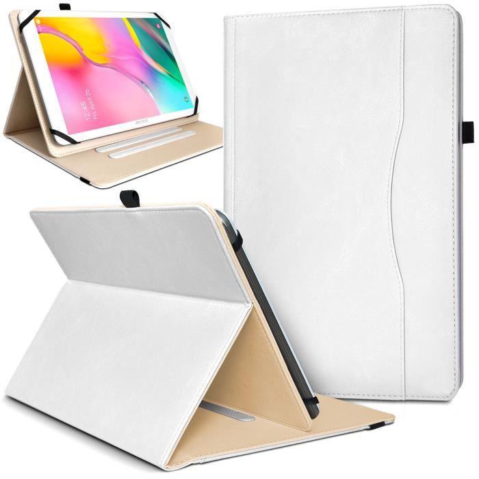 Étui de Protection et Range Document Universel L Blanc pour Tablette Danew Dslide 113 10,1 pouces