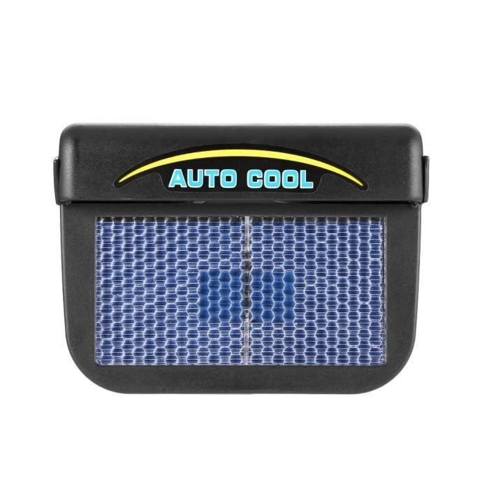 Radiateur Solaire Automatique Refroidisseur Ventilateur de Voiture 150x120x60mm Noir