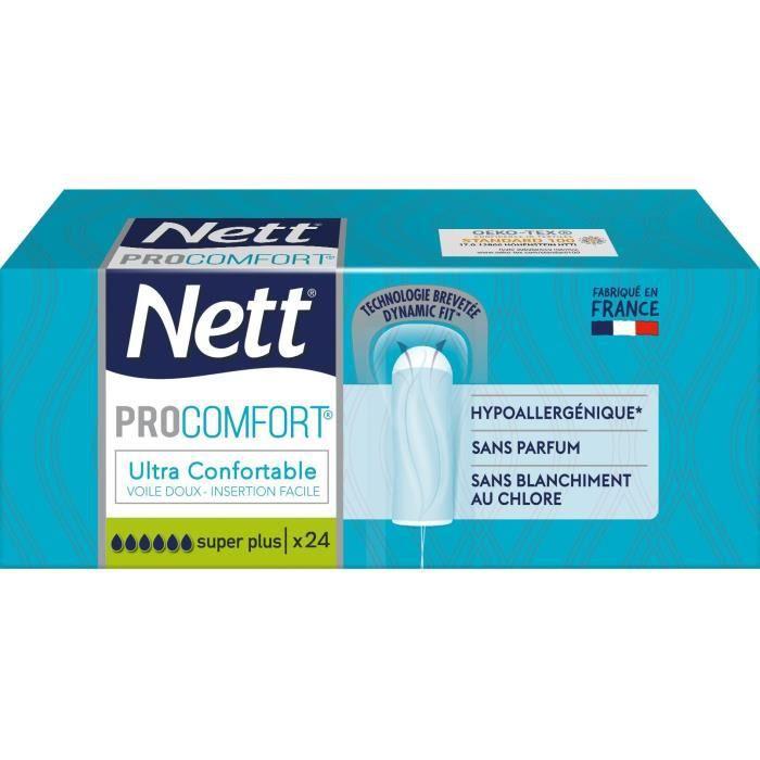NETT Tampon Procomfort sans applicateur Super Plus - Boîte de 24