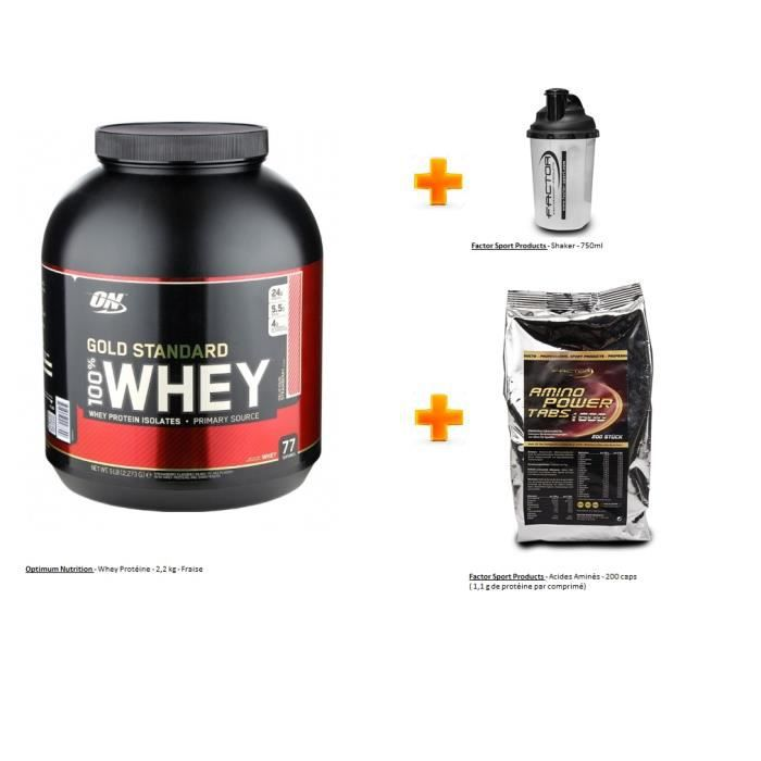 Whey Gold Optimum Nutrition 2,2 kg Fraise Amino