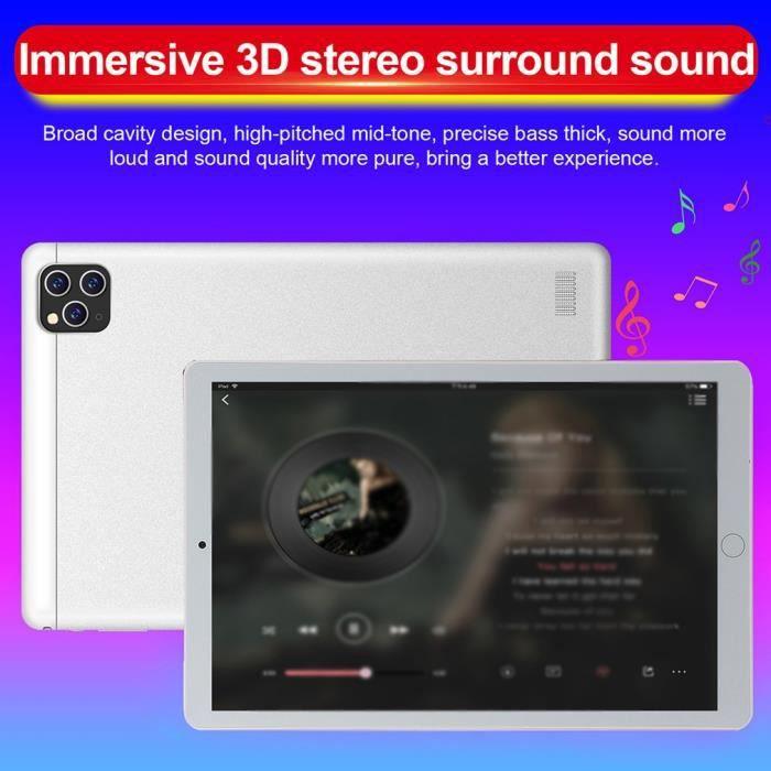 Tablette PC 10 pouces Dual Sim 3G Appel Double caméra Smart Tablet PC HD Grand écran blanc