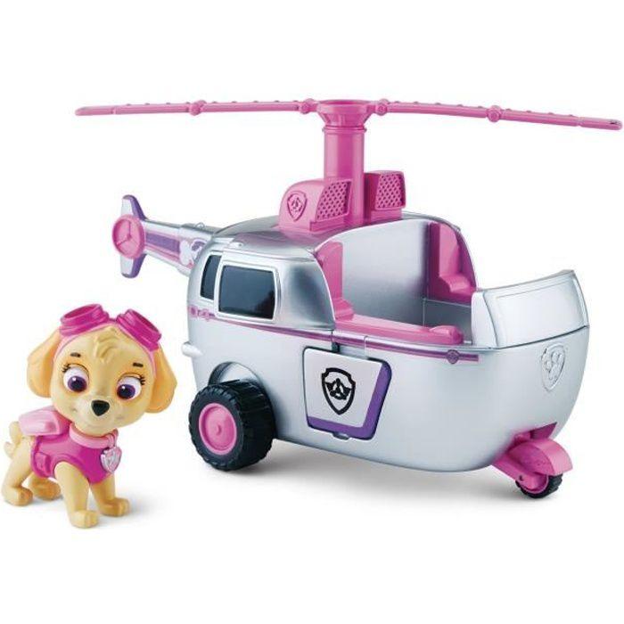 Véhicule Paw Patrol Pat'Patrouille avec figurine : Hélicoptère et Stella