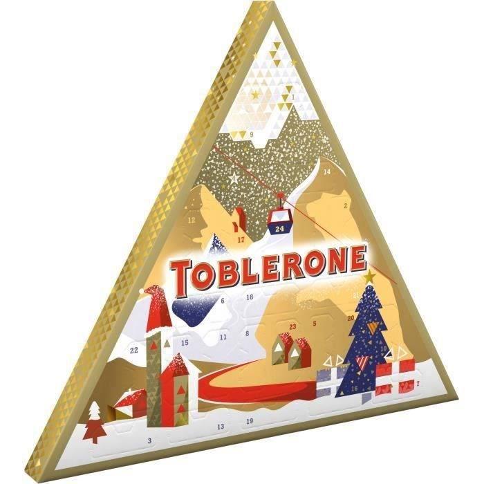 TOBLERONE - Calendrier de l'avent - Chocolats de Noël - Boîte de 200 g
