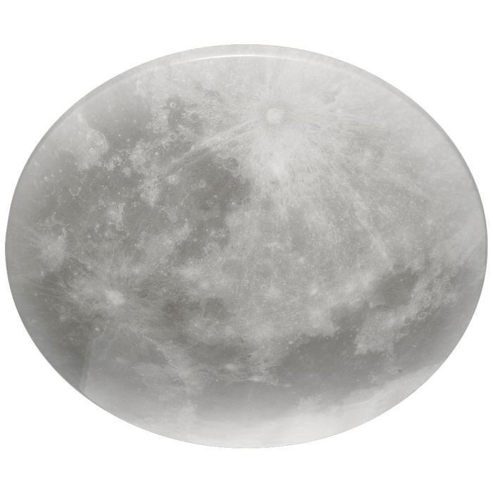Plafonnier, optique moon, dimmable, blanc, D 40 cm, LUNAR