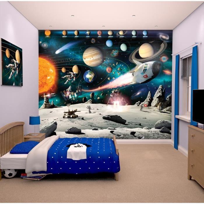 Papier peint enfant Fresque Murale Décorative Planètes