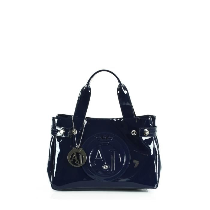 Sac à main vernis Armani Jeans bleu 05235 55 - 50 - Attention ce ...