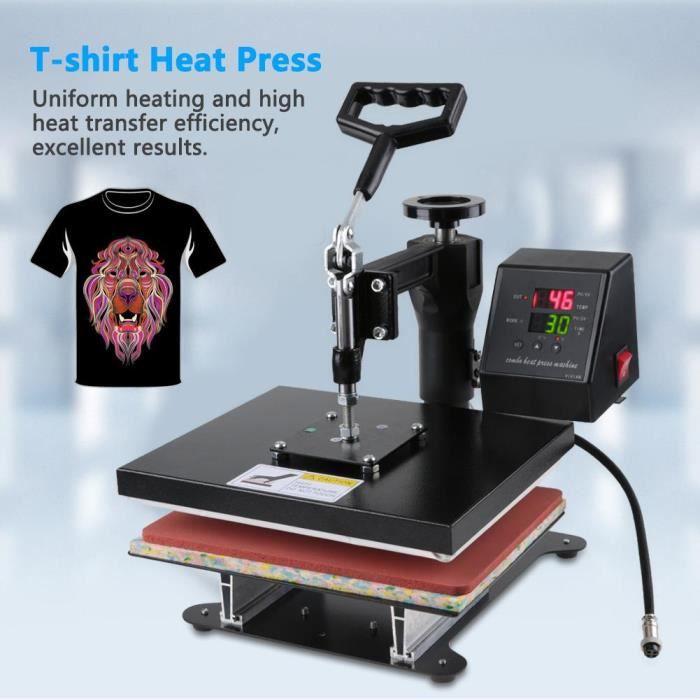 Presse à chaud Machine de presse à chaud pour t-shirts 12x10pouces