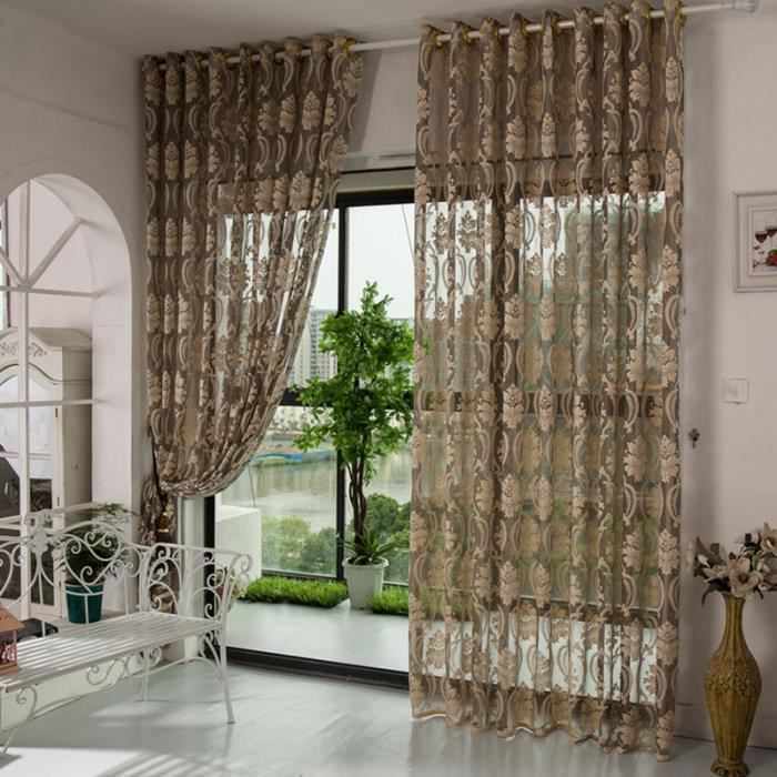 2pcs 150cmx270cm rideaux pour le salon rideau voilage cuisine curtains perle rideau gris. Black Bedroom Furniture Sets. Home Design Ideas