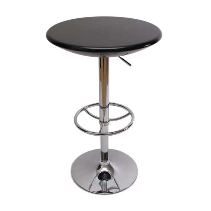 table de bar ronde laqu e noire 60cm achat vente table de cuisine table de bar ronde laqu e. Black Bedroom Furniture Sets. Home Design Ideas