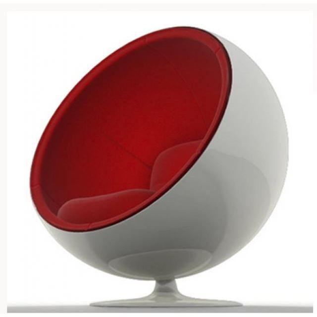 fauteuil enfant ball chair blanc rouge achat vente fauteuil mati re de la structure m tal. Black Bedroom Furniture Sets. Home Design Ideas