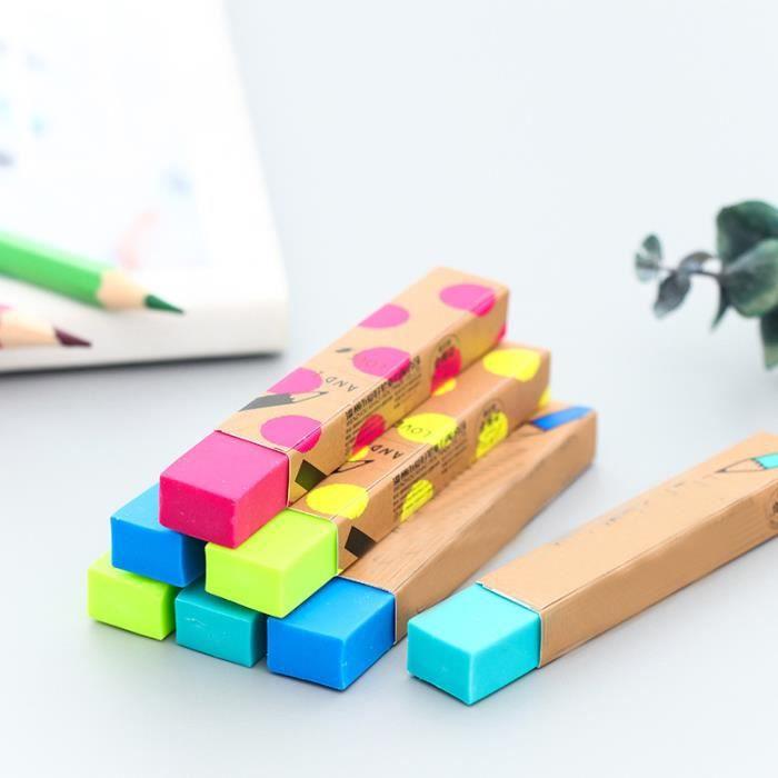 GOMME 2pcs 8.2cm*1.2cm kawaii multicolor gomme en caoutc