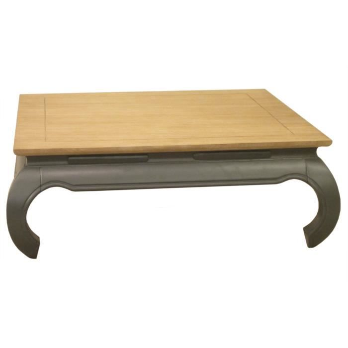 Table basse carr e opium en manguier massif longueur 100cm colonia gris ach - Table basse opium carree ...