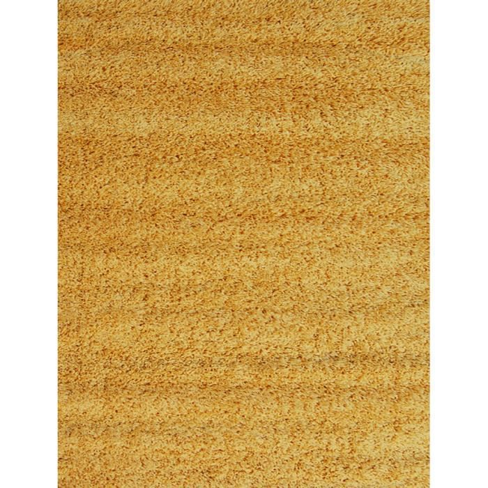 tapis salon shaggy jaune 120 x 160 cm achat vente tapis cdiscount. Black Bedroom Furniture Sets. Home Design Ideas