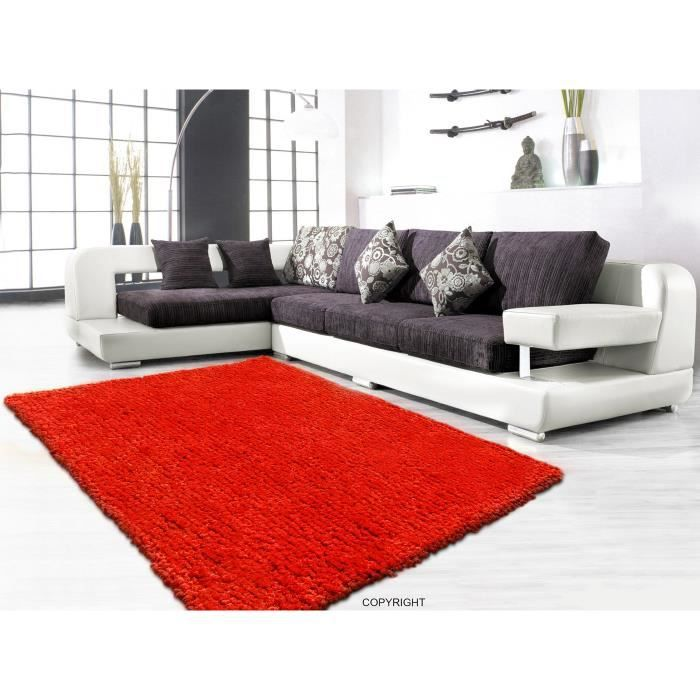 tapis shaggy orange 200 x 280 cm achat vente tapis cdiscount. Black Bedroom Furniture Sets. Home Design Ideas