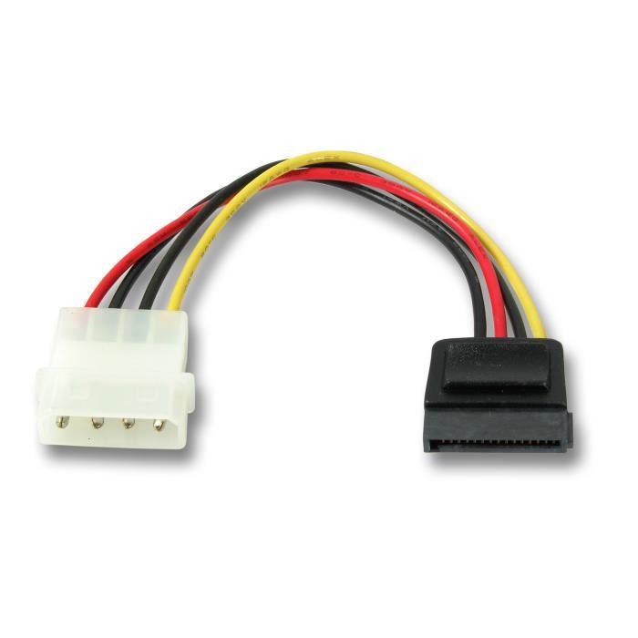 CÂBLE E-SATA MHP ® SATA Power adaptateur câble 4 broches Mol…