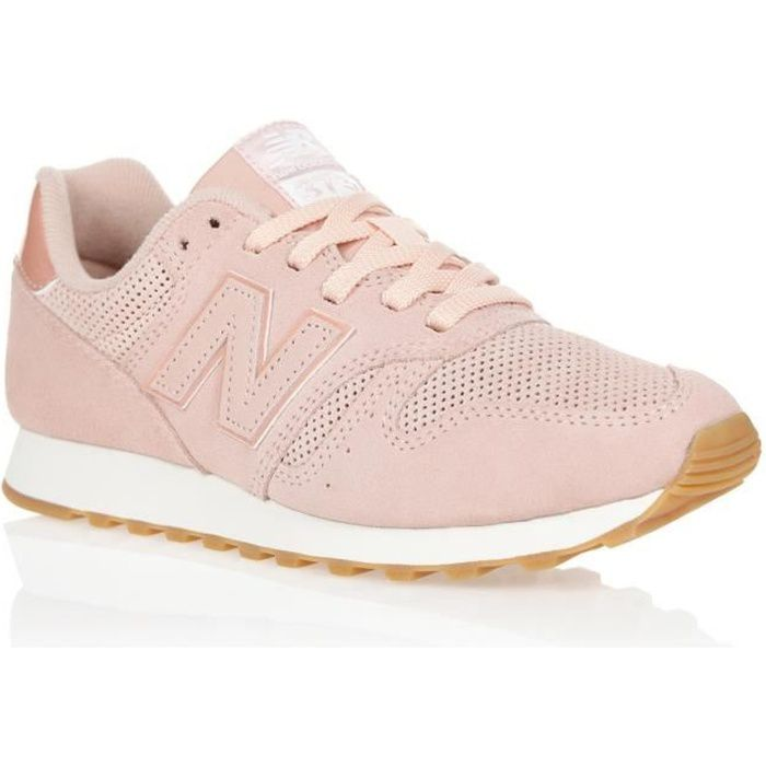 basket new balance rose gold