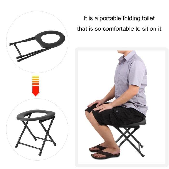 percée Portable ToiletteSiège pour WC Chaise pliante QBdxroCeW