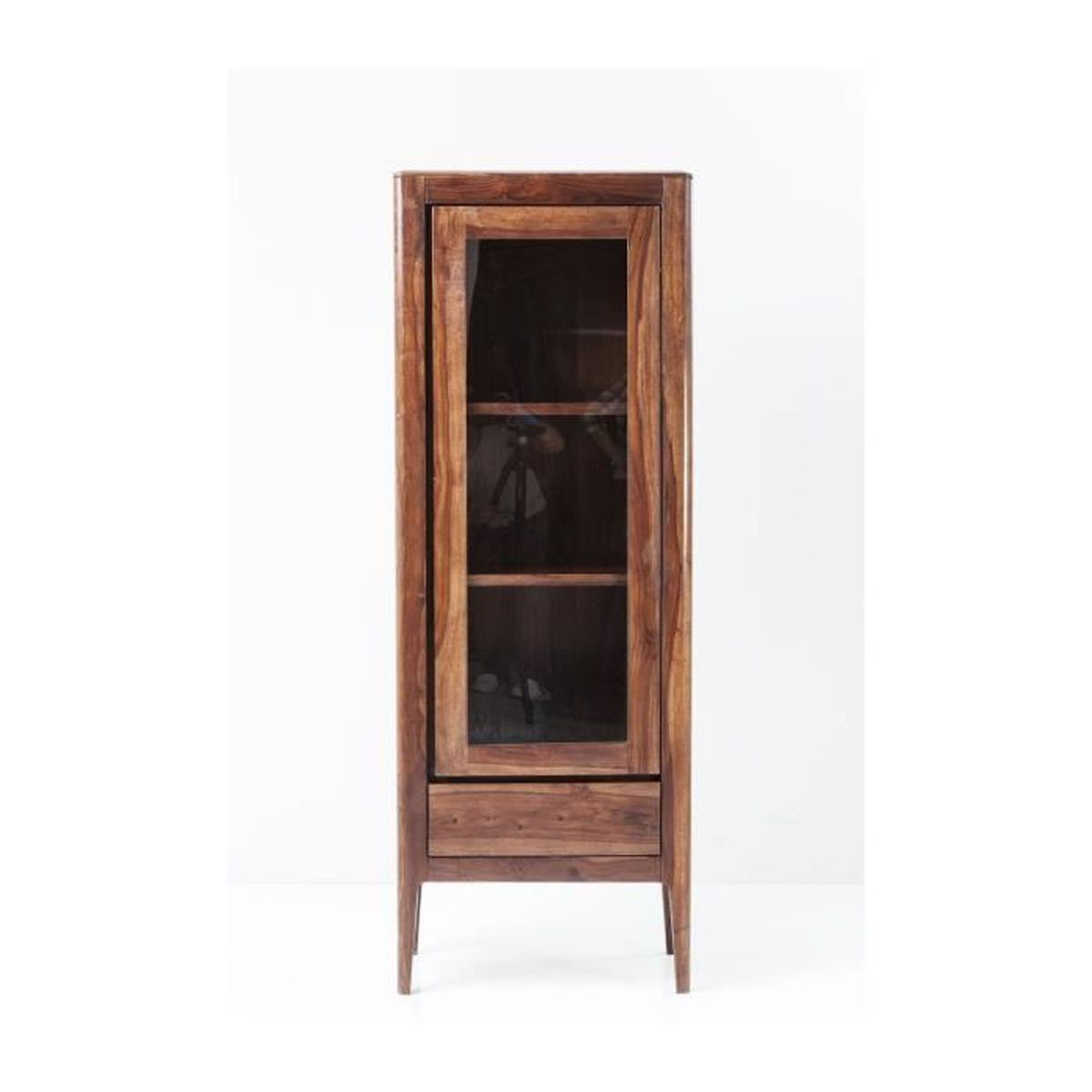 vitrine brooklyn walnut kare design achat vente biblioth que vitrine brooklyn walnut kar. Black Bedroom Furniture Sets. Home Design Ideas