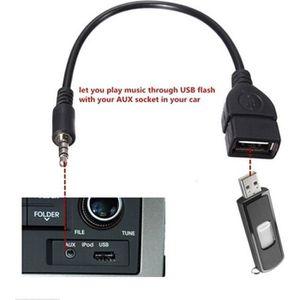 CÂBLE RÉSEAU  3.5mm Male Audio AUX Jack vers USB 2.0 Type A Câbl