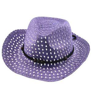 SET DE SOIN Été bébé cowboy chapeaux de paille pour les enfant