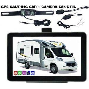 PACK GPS AUTO GPS CAMPING CAR AVEC CAMERA DE RECUL SANS FIL 2019