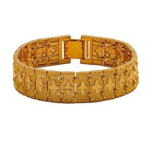 BRACELET - GOURMETTE 15mm large bracelet pour homme bracelet en or jaun