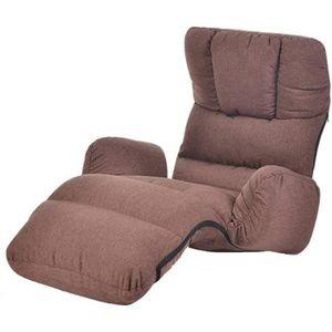 Canap/é Pliante Lazy Canap/é Chaise double conception dossier r/églable /à 5 vitesses chaise pause d/éjeuner simple avec repose-pieds salon confortable Chambre coton portantes 150 kg Color : Blue