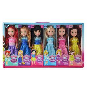 POUPÉE BRO® Poupée Barbie, 6pcs belles Princesses, cadeau