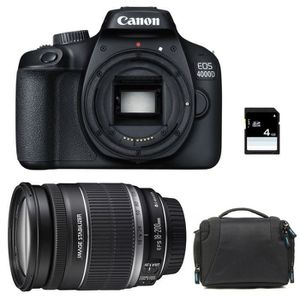 APPAREIL PHOTO RÉFLEX CANON EOS 4000D + EF-S 18-200 mm f/3.5-5.6 IS GARA