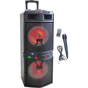 ENCEINTES INOVALLEY MS02XXL Enceinte Karaoke Trolley - Bluet