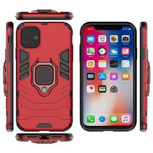 COQUE - BUMPER Coque iPhone 11,Rouge Premium Antichoc avec Attrac