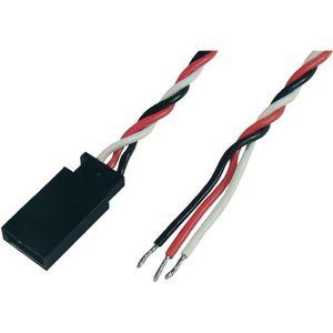 3 x rc extension servo 300mm fils câble plomb futaba jr sanwa hitec