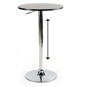 TABLE D'APPOINT Table ajustable Rosco diam 60 cm noire
