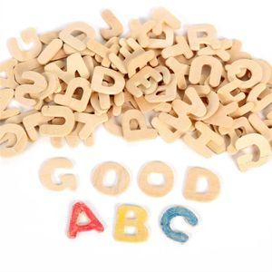 OBJET DÉCORATIF Ensemble de bois lettre DIY bois Alphabet