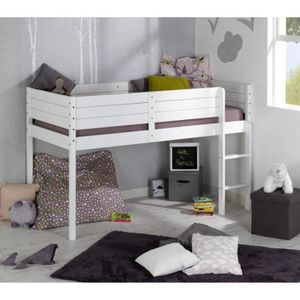 lit mezzanine enfant 90x190 achat vente lit mezzanine enfant 90x190 pas cher cdiscount. Black Bedroom Furniture Sets. Home Design Ideas