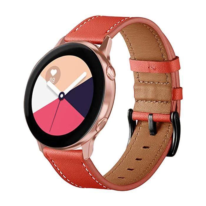 MONTRE OUTDOOR Bracelet de montre de remplacement en cuir pour Samsung Galaxy Watch active 20mm bg1425 SDF1425