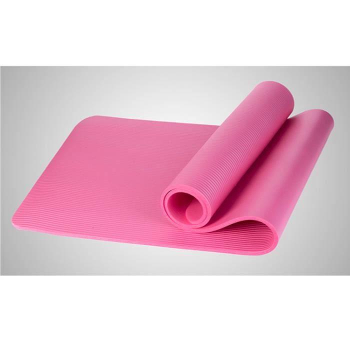 10mm épais tapis de yoga antidérapant tapis de fitness Pilates exercice à domicile 183x61cm gym tapis d'exercice
