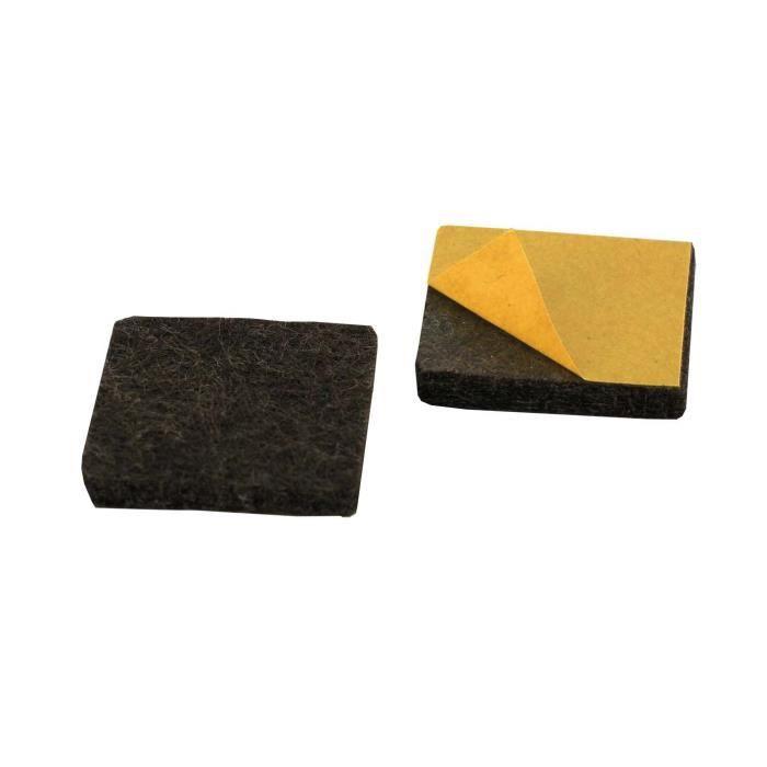 Bulk Hardware BH01672 Paquet de 10 Patins adh/ésives feutre rond diam/ètre 38 mm
