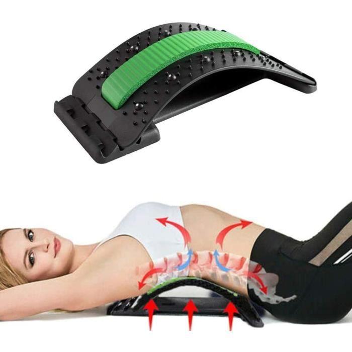 Soulagement de la Douleur Lombaire étirement Appareil,Dispositif D'étirement Du Dos Masseurs pour le dos Magic Stretcher,Dos Civière