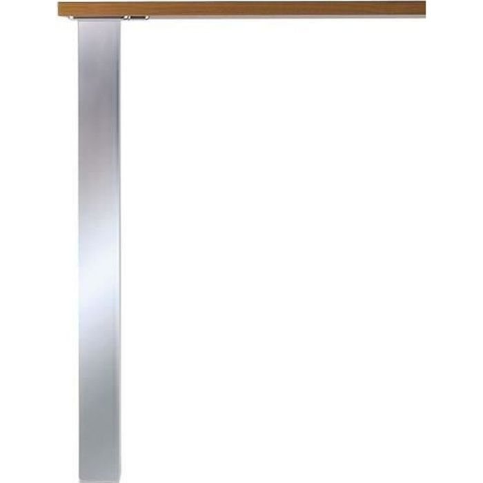 PIED DE TABLE CARRÉ Brossé aspect inox L80xH870 - 80x80 Inox