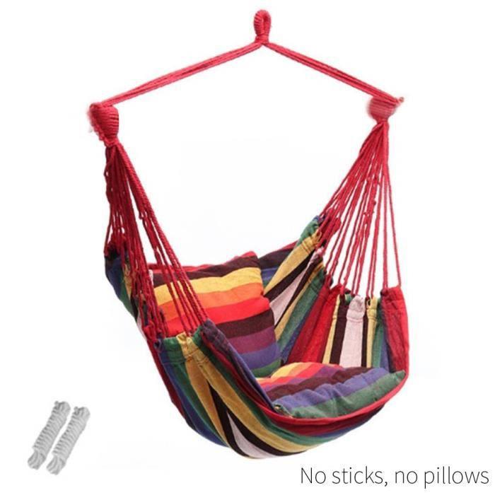5 couleurs forte chaise hamac chaise balançoire hamac suspendu coloré en tissu TENTE DE CAMPING