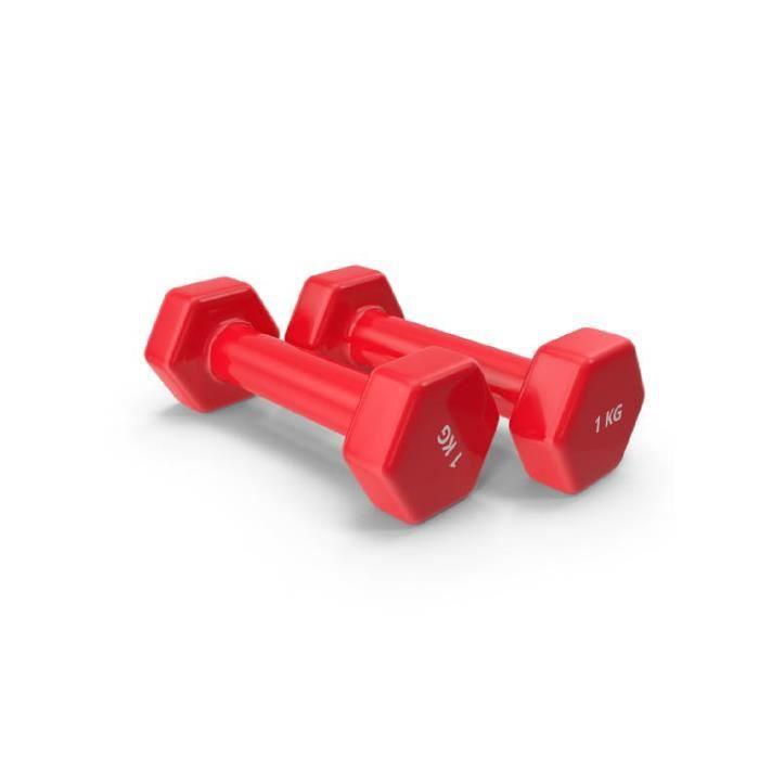 Haltères fitness- 1KG x2 unités haltères en vinyle