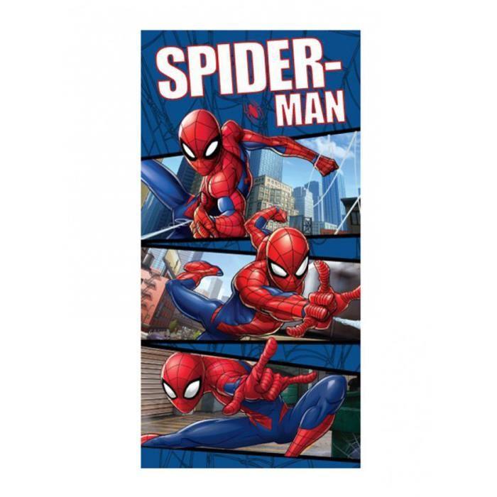 Spiderman Bleu Serviette de Plage