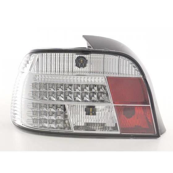 LED Feux arrières pour BMW Série 5 E39 Limousine année 95-00, chrome - - année: 1995 à 2000- couleur: chrome- gauche + droit (Set)