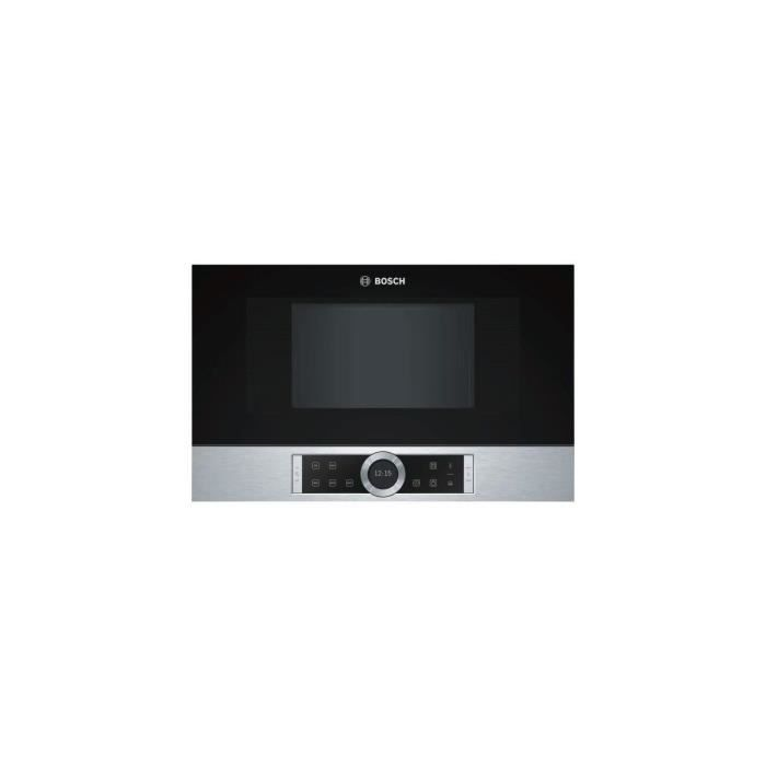 BOSCH MICRO-ONDES INOX 21L Tout Encastrable 900 Watts