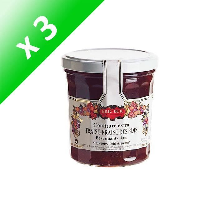 [LOT DE 3] Confiture fraise des bois -Eric BUR