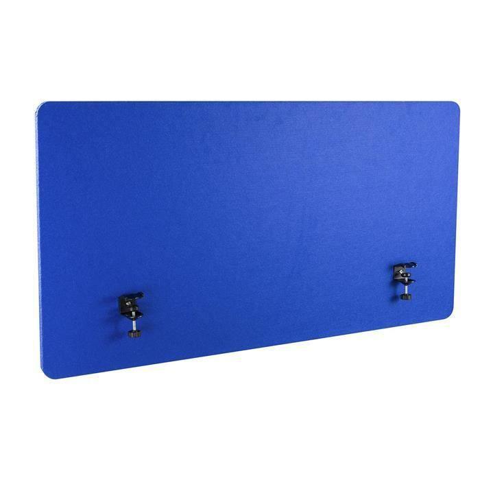 Ecran de séparation de Bureau, 160 x 60 cm, Bleu